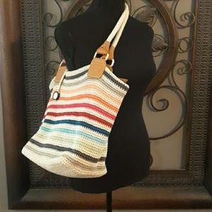 Crocheted multicolored The Sak handbag